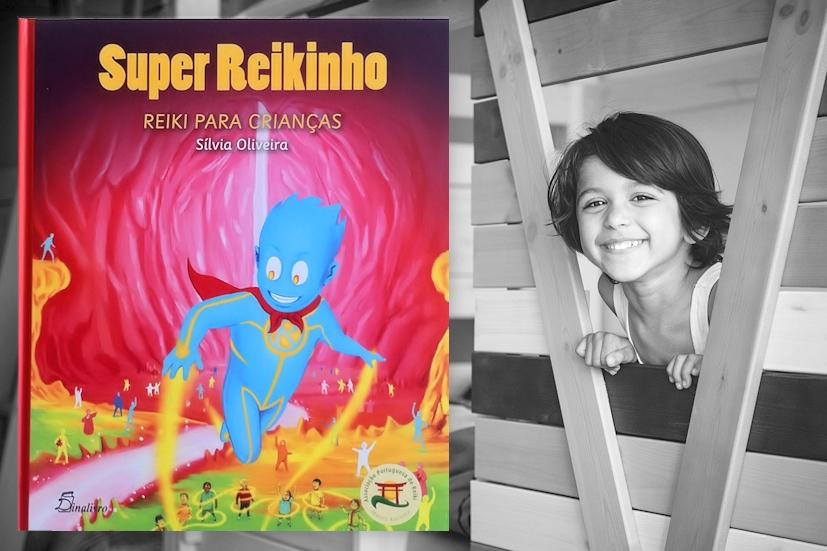 O Super Reikinho ao lado de uma criança sorridente: o livro explica o Reiki aos mais pequenos de forma divertida | Foto: Philippe Put/Creative Commons